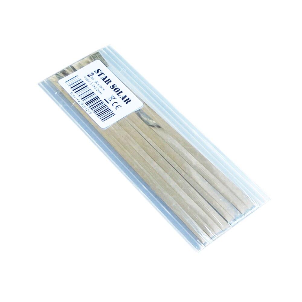 Células solares tab bus bar cable para PV 2m 6 pies 5,0x0,2mm cinta, cable de tableta para DIY conectar la tira del panel solar
