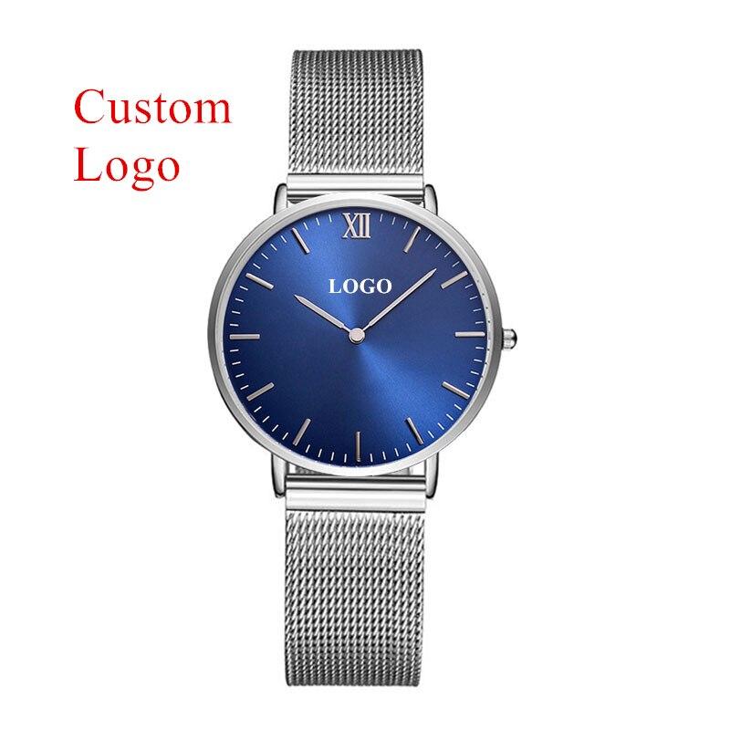 CL035 مخصص شعارك الساعات الكلاسيكية النساء ارتفع الذهب شبكة من الاستانلس استيل ساعة OEM سيدة ساعات المعصم