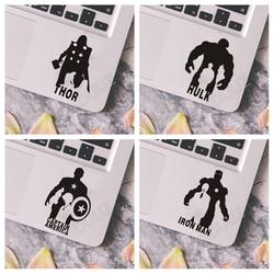 Avengers Iron Man Captain America 2 stücke Laptop Auto Wand Vinyl Aufkleber Aufkleber Kunst Decor Schalter Aufkleber Kühlschrank Aufkleber C161