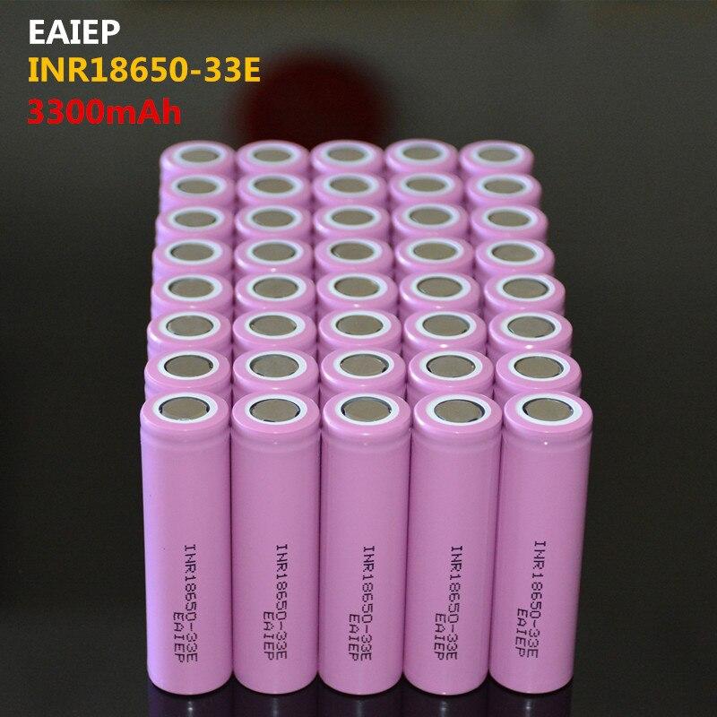 40 шт. 100% Новый оригинальный INR18650-33E 3,7 В 3300 мАч 18650 литиевая аккумуляторная батарея EAIEP фонарик батареи