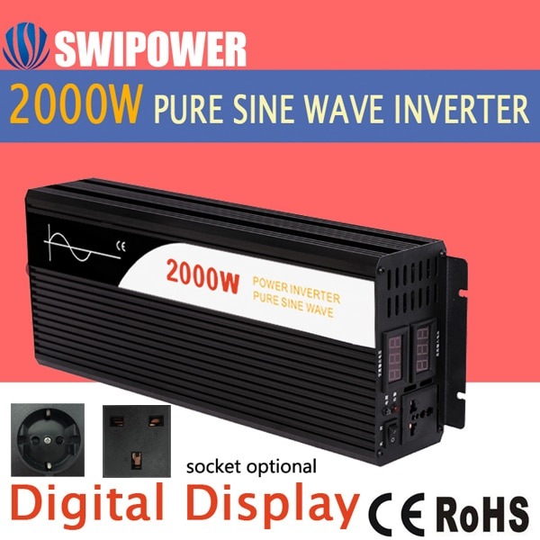Inversor de potencia 2000W onda sinusoidal pura
