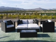 Sigma w każdych warunkach pogodowych rattan meble ogrodowe na zewnątrz sofa ustawia nowoczesny kanapy gorąca sprzedaż