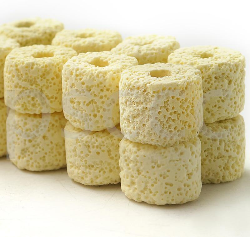 Bacteria House Bio Porous Ceramic Rings Bio balls Filter Media with Mesh Bag for Aquarium Sump Canister Filter Koi Pond