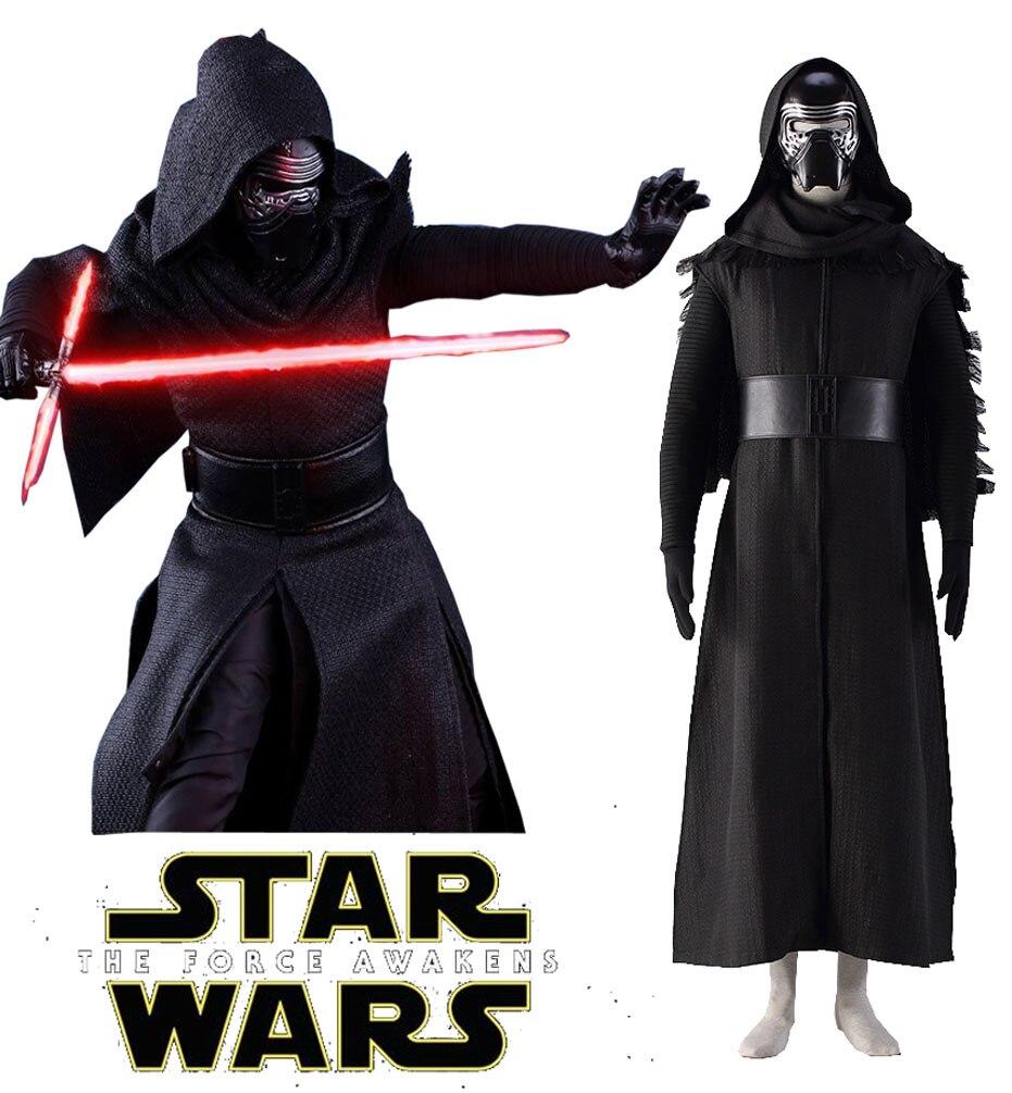 Estrella de la fuerza despierta Wars Kylo Ren Cosplay traje con máscara