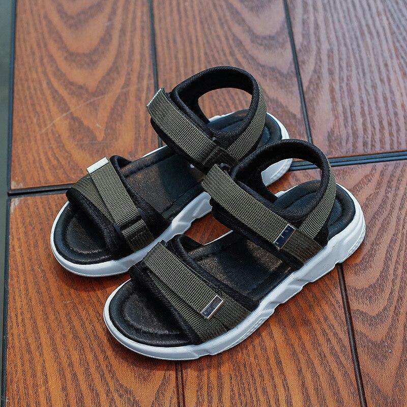 Los niños cómodo 2019 sandalias de verano zapatos de niños Infantil niños niñas sandalias casuales de playa de moda zapatos planos suaves de la UE 26-36