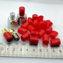 9mm housse de protection en caoutchouc couvre bouchon anti-poussière pour connecteur coaxial de type F ou tubes métalliques couleur rouge/noir 100 pcs/lot