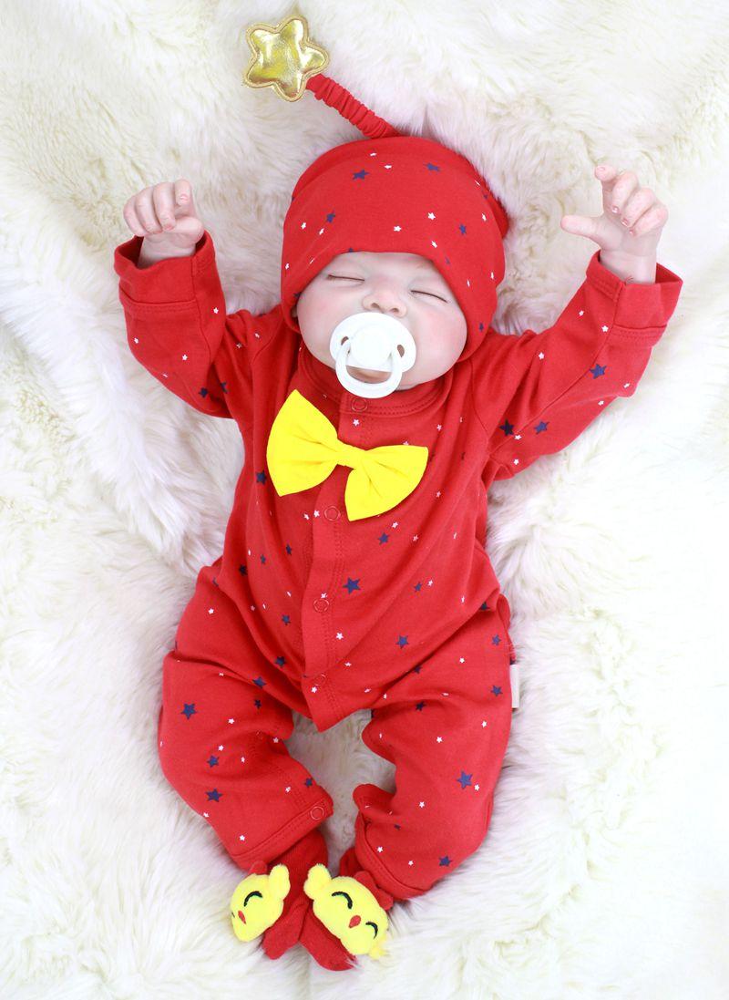 Regalo de Navidad Super lindo 55cm bebé Reborn muñecas suave silicona viva Rebron bebés niña niño juguetes recién nacidos muñecas brinquedos