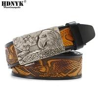 classical brand designer eagle buckle belt men cowskin genuine luxury leather mens belts for men strap male automatic buckle