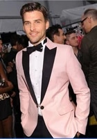 custom made to measure pink tuxedo grey 3 piece suit custom suit men bespoke suit pink wedding tuxedos for men with white vest
