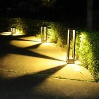 Garden Outdoor Led Landscape lighting Villa glass Lawn light Waterproof Porch Lights Aluminum Led Exterior lighting street lamp