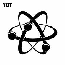 YJZT 15.5CM * 13.6CM Atom Symbool Natuurkunde Chemie Art Auto Sticker Cool Vinly Decal Zwart/Zilver c27-0278