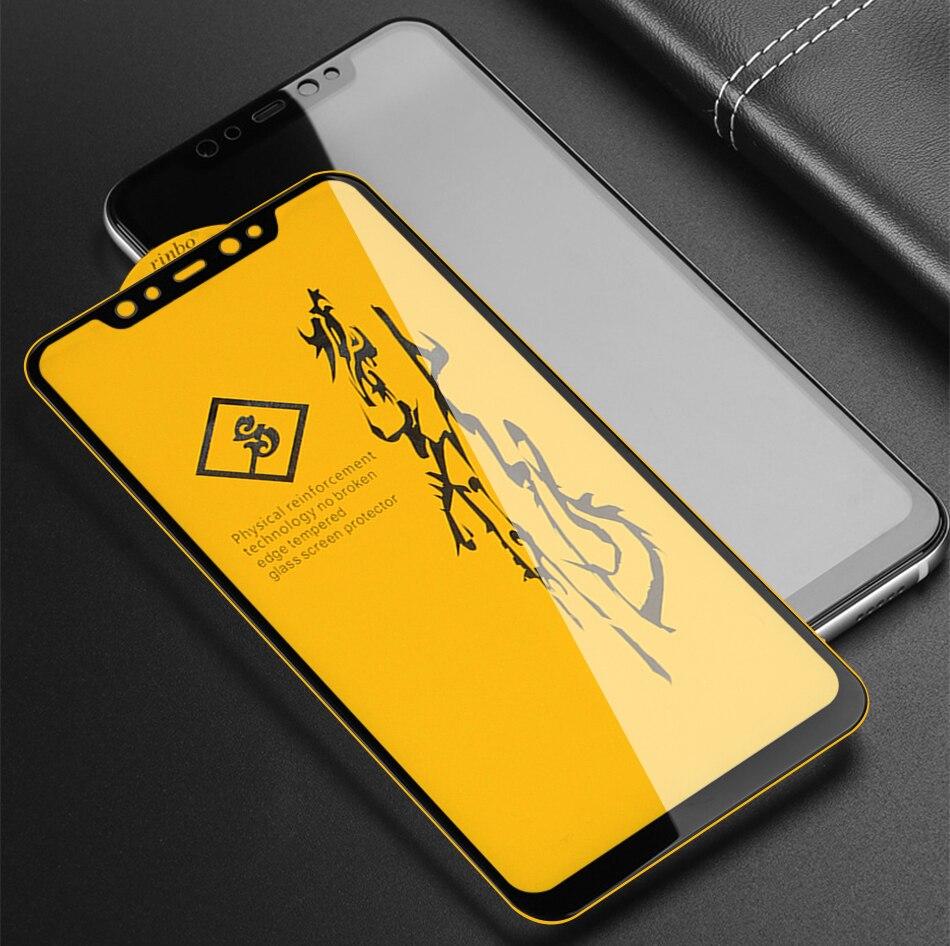 غراء زجاجي مقوى 6D لهاتف Xiaomi Mi 9T Redmi K20 Note 7 6 5 Pro Plus Pocophone F1 6X A2 Lite ، 10 قطعة