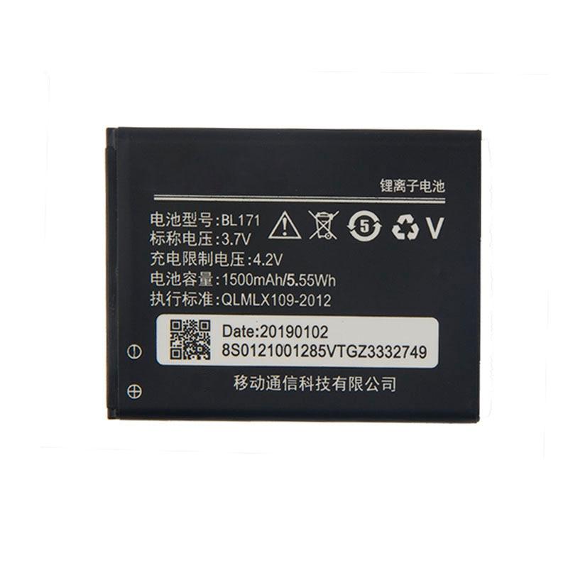 Original de alta calidad BL171 batería para Lenovo A370e A319 A60 A390 A368 A390T A356 A500 A65 1500mAh