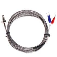 Filetage M6 sonde à vis capteur de température Thermocouple câble de Type K 2M 0-600C