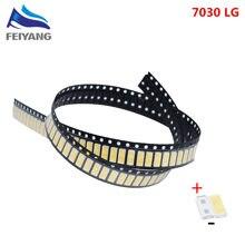 50pcs FOR LG Innotek LED LED Backlight 1W 7030 6V Cool white TV Application smd 7030 led cold white 100-110lm 7.0*3.0*0.8mm