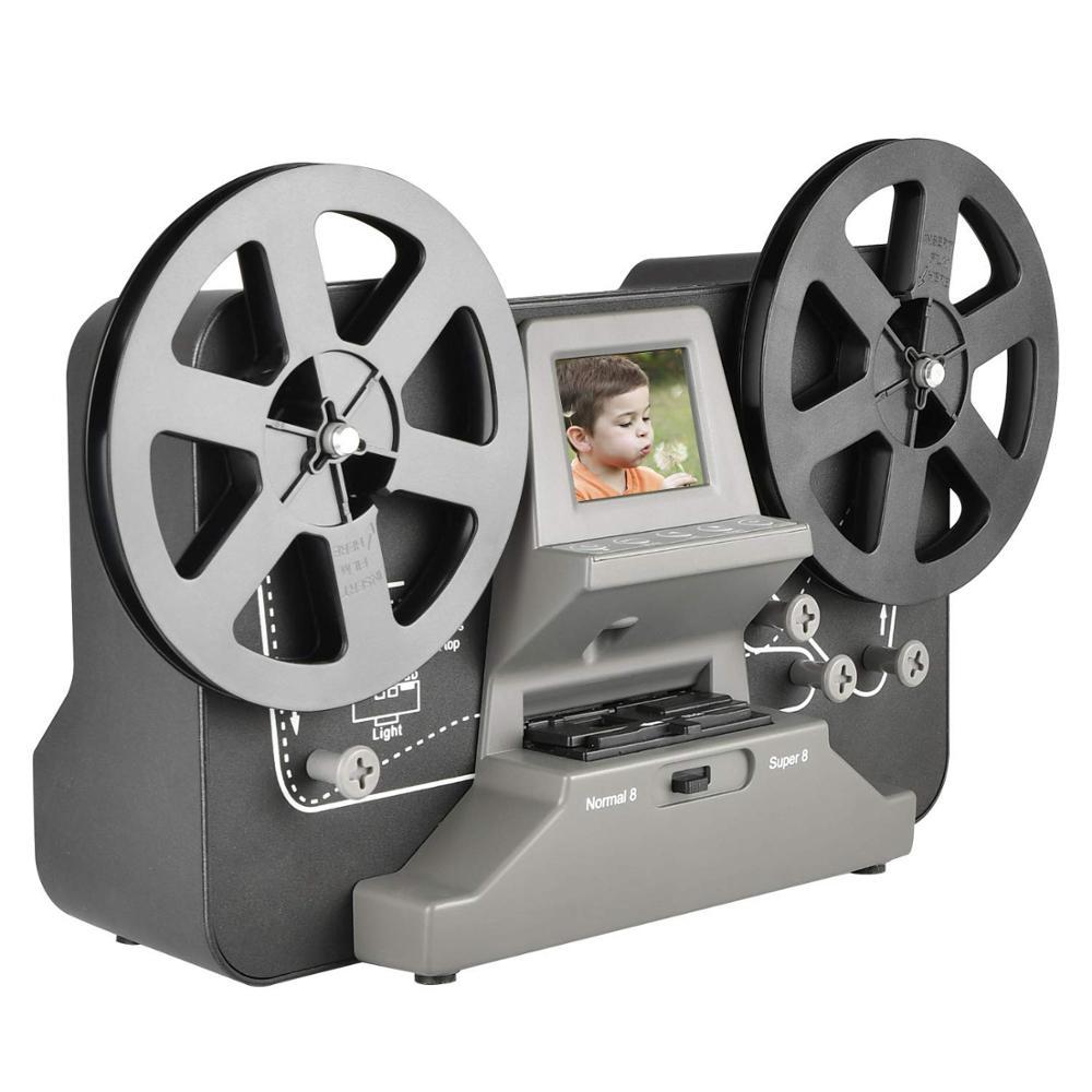 8 مللي متر و سوبر 8 بكرات إلى الرقمية MovieMaker فيلم ماسحة ، برو فيلم آلة التحويل الرقمي مع 2.4
