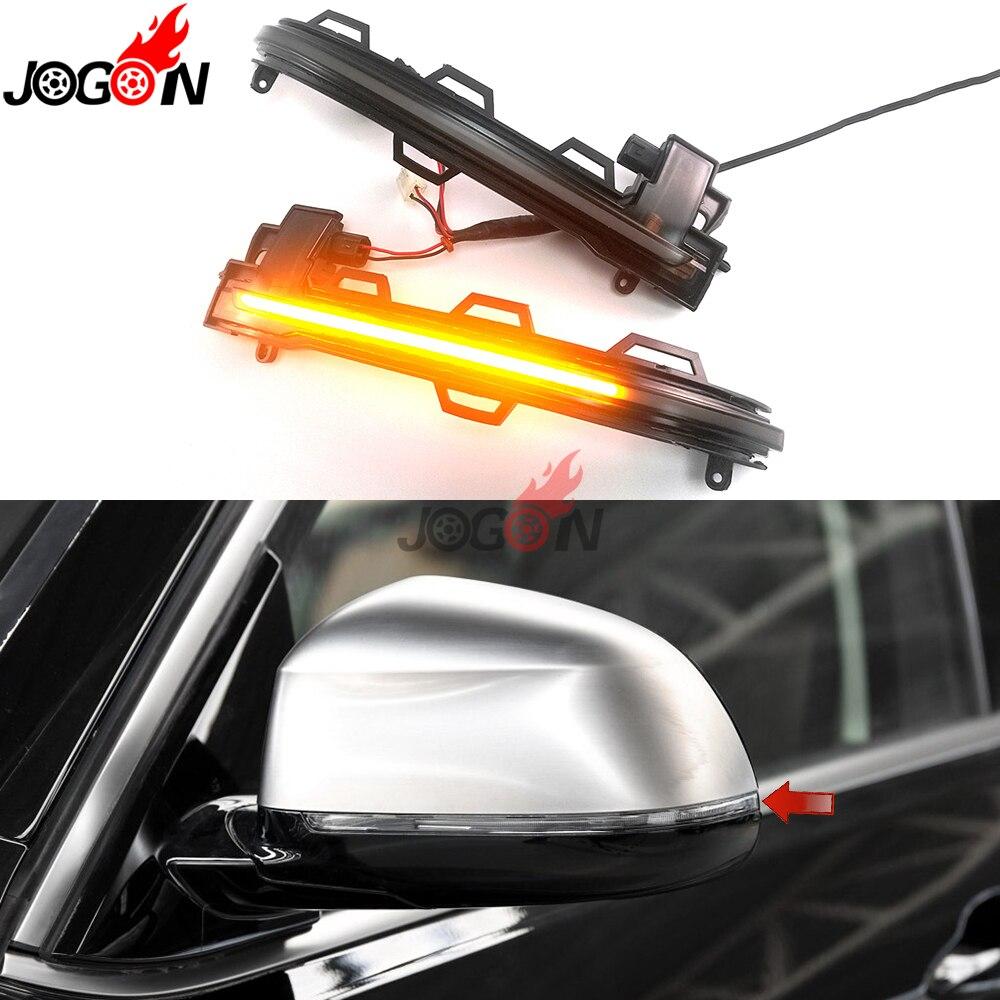 Ahumado para BMW X3 F25 X4 F26 X5 F15 X6 F16 2014-18 ala lateral del coche retrovisor indicador intermitente LED Luz de señal de giro dinámica