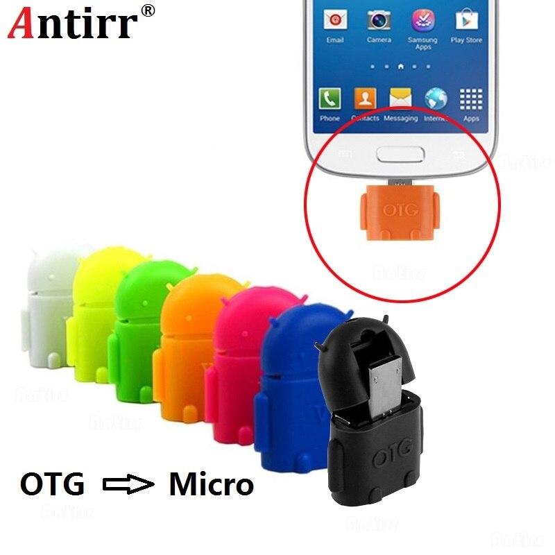 Universal Android Roboter form Micro USB OTG Kabel Adapter 2,0 Konverter für-Stick Maus tastatur Hand Schaft Tablet Telefon
