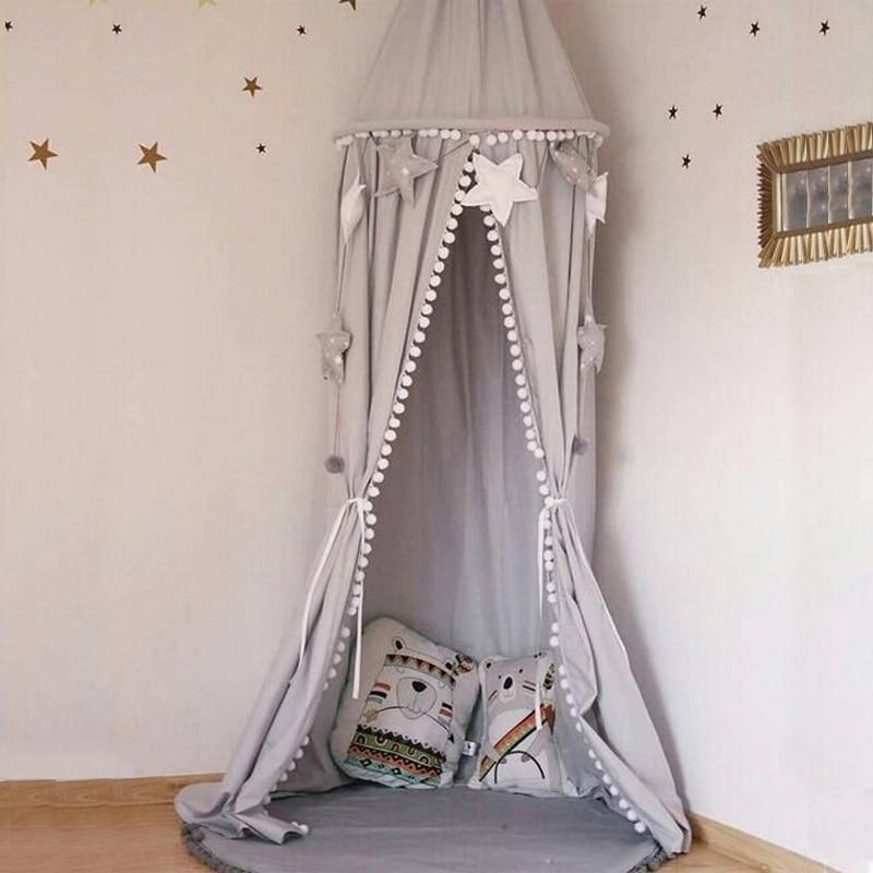Детская кровать, детская комната занавеса, украшение для детской кроватки, сетчатая детская палатка, хлопковый подвесной купол, детская мос...