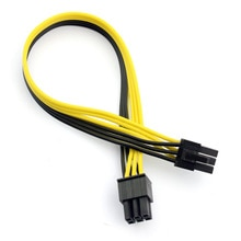 PCI-E PCIE PCI Express 6P Male to 6Pin Male Graphics Video Card DIY Power Cable Extended Wire 18AWG