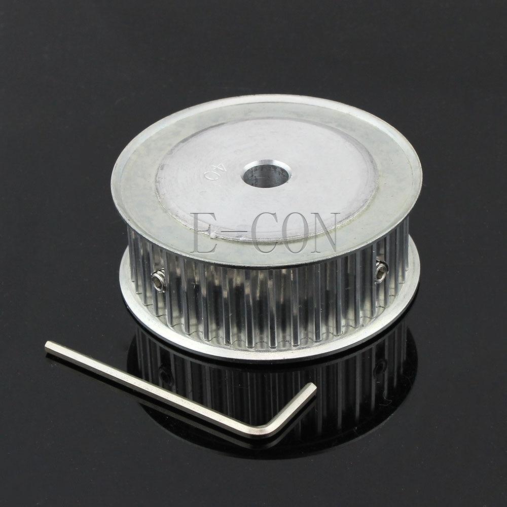 1 stücke HTD5M40 Timing Pulley 40 zähne Alumium Bohrung 6mm/6,35mm/8mm/10mm /12mm/14mm/15mm/17mm/20mm/25mm Zähne Breite 21mm
