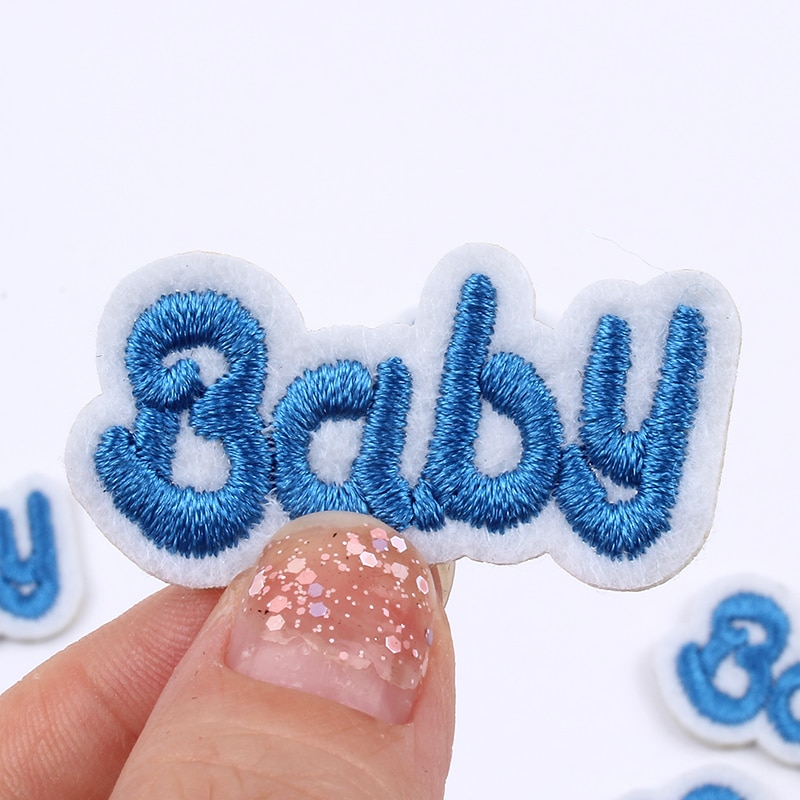 Lote de 10 unidades de parches bordados para bebé, pegatinas de dibujos animados para coser en ropa para niños, accesorios para prendas, apliques de tela para camisas y vestidos DIY