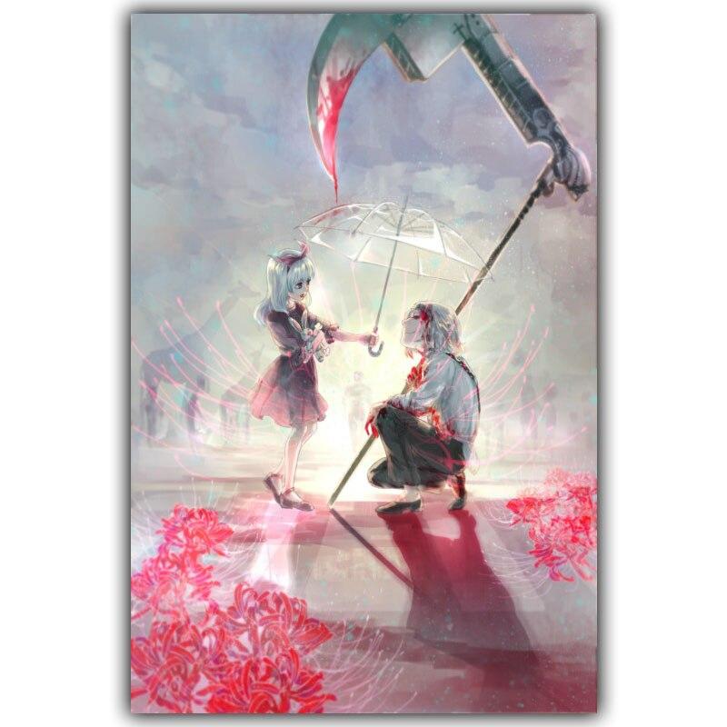 Póster de Tokyo Ghoul, póster decorativo clásico Popular de Anime japonés, póster de seda para decoración de pared de 30x45cm, 60x90cm