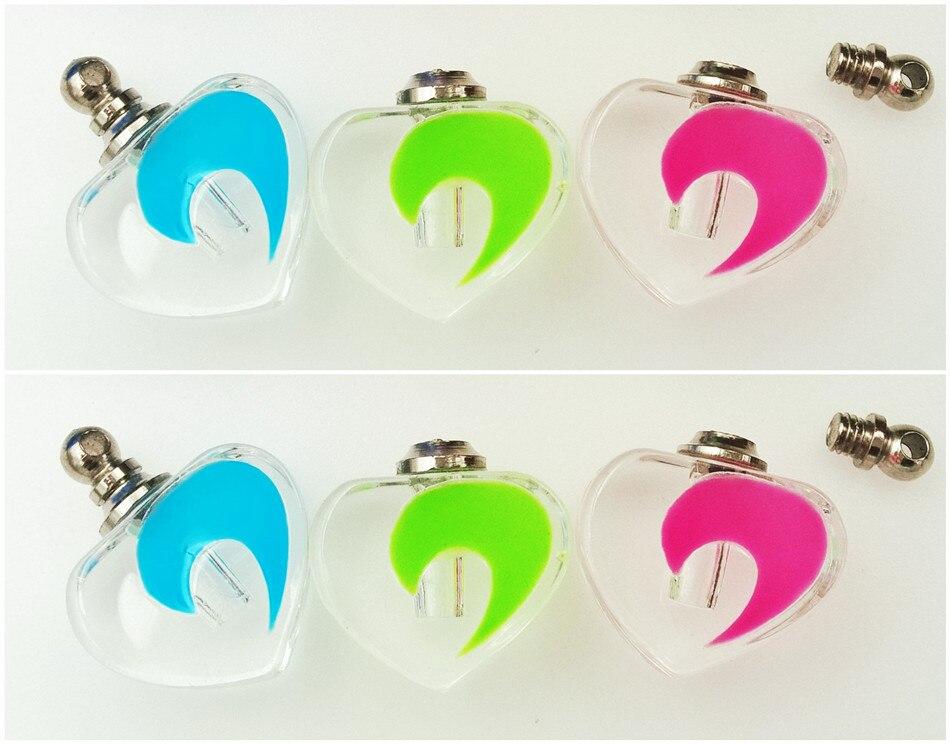50 unidades 19x19mm pequeños colgantes luminosos de Luna cristal ampolletas perfume botella liquidación NOMBRE EN colgante de collar de Arte de arroz
