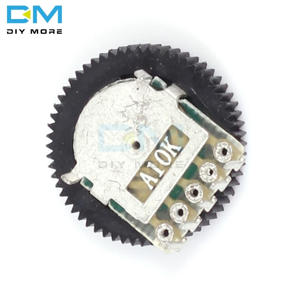 10 шт. A103 10K дуплекс шестерни диск потенциометра 16x2 мм для радио MP3/MP4 Регулировка громкости переключатель потенциометра
