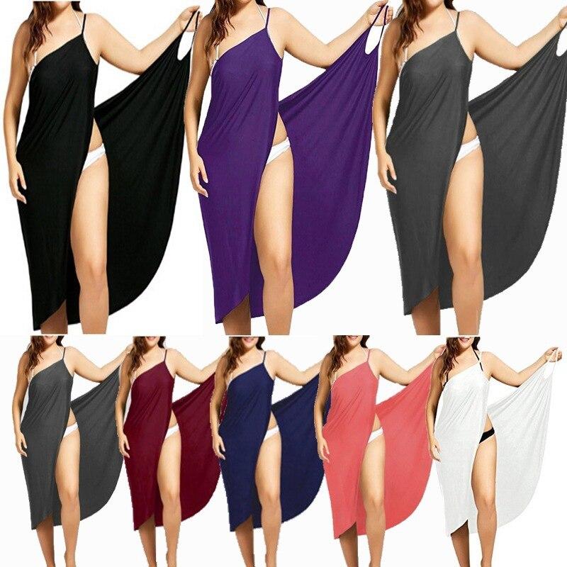 Женское пляжное платье, сексуальное платье на бретельках с открытой спиной