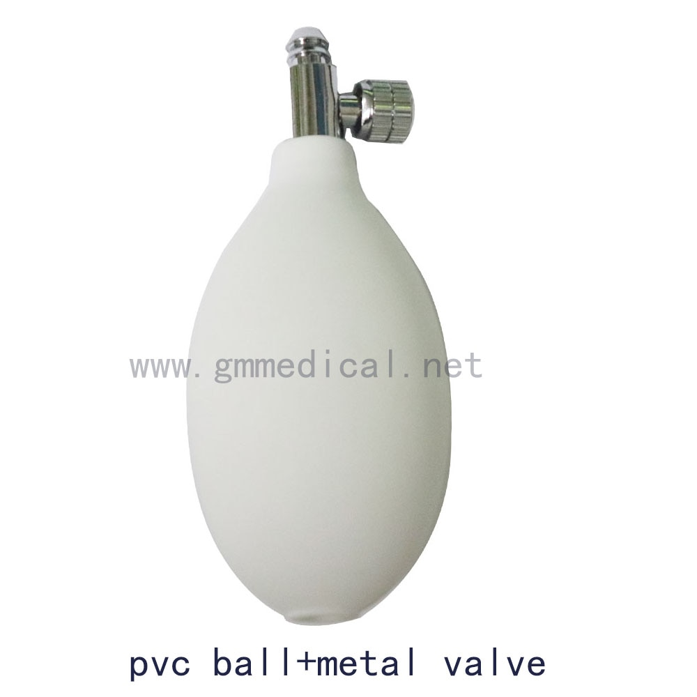 Manual Sphygmomanometer Latex/Pvc ball air inflatable bulb with metal valve use for blood pressure cuff.