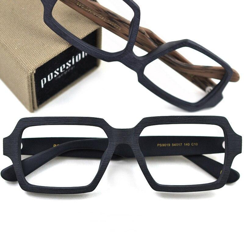 HDCRAFTER Vintage/Retro oprawki do okularów drewno kobiety mężczyźni ponadgabarytowe oprawki do okularów korekcyjnych okulary okulary do okularów