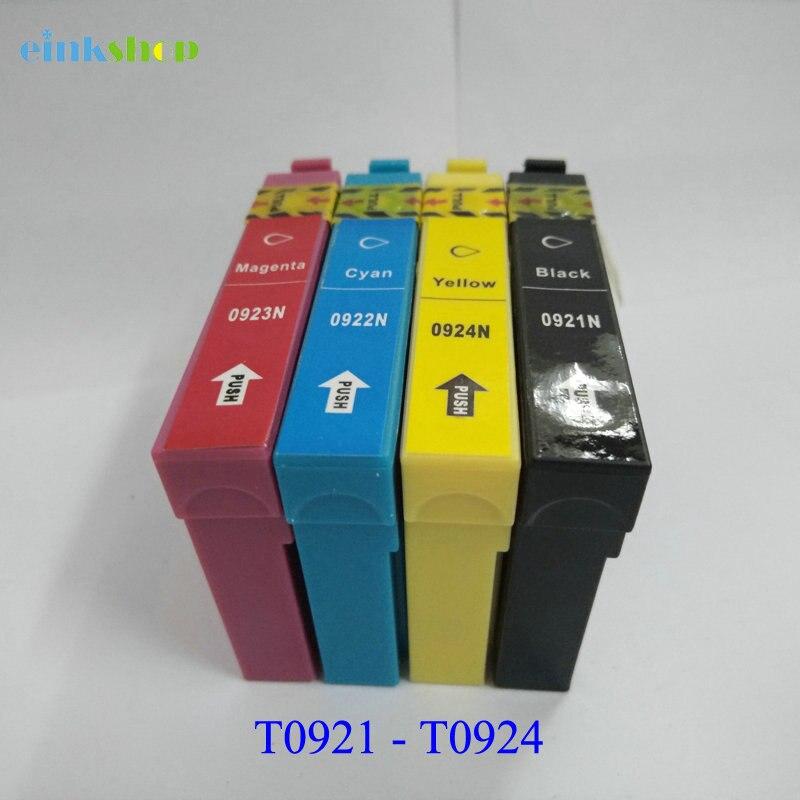 Einkshop 1Set T0921-T0924 92n cartucho de tinta para Epson Stylus CX4300 TX117 T26 T27 TX106 TX119 TX109 C91 impresora