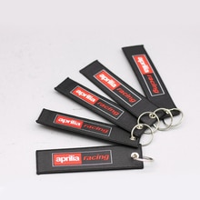 Großhandel Stickerei Schlüsselring Für Aprilia RSV4 RSV MILLE TUONO V4R SL1000 ETV1000 RST1000 Motorrad Racing Sammlung Schlüssel Kette