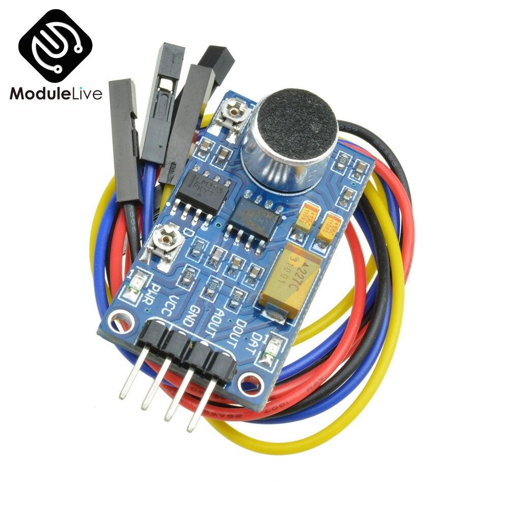 Módulo de amplificador de potencia de Audio LM386, Sensor de detección de sonido, placa del Sensor de voz para Kit de bricolaje ambiental, módulo de placa electrónica PCB