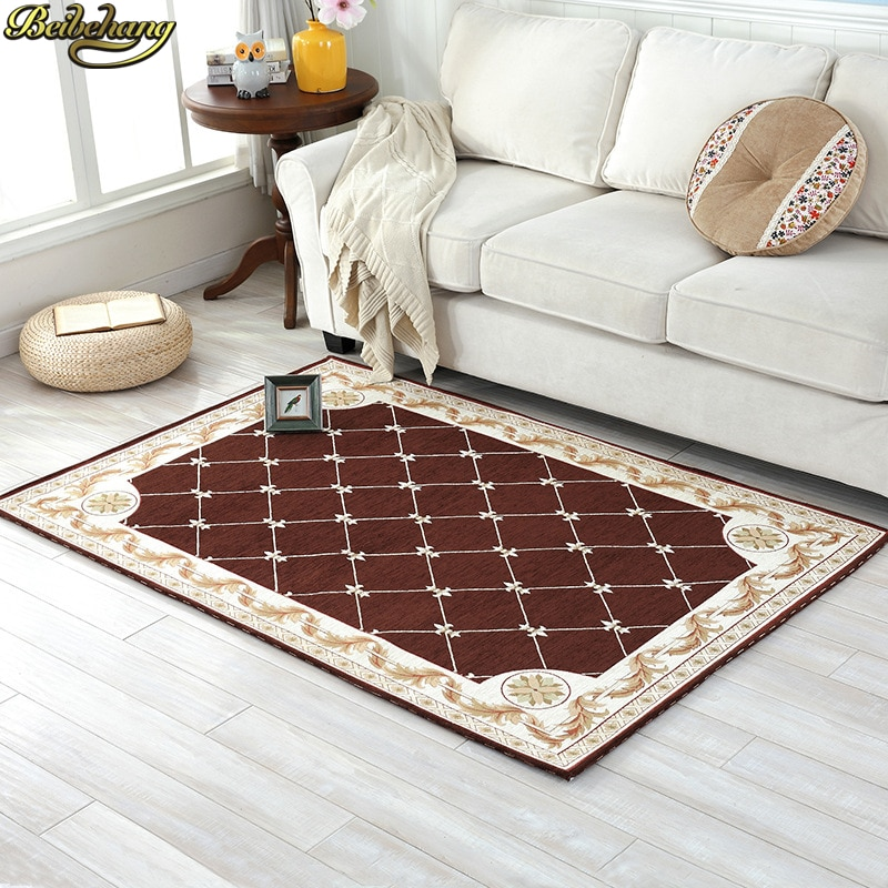 beibehang High-grade elegant European carpet custom living room sofa cushion plastic slip bedside study bedroom carpet floor mat