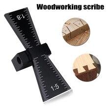 Queue daronde gabarit Guide marqueur en alliage daluminium Scriber bois Joints jauge outil de travail du bois LKS99