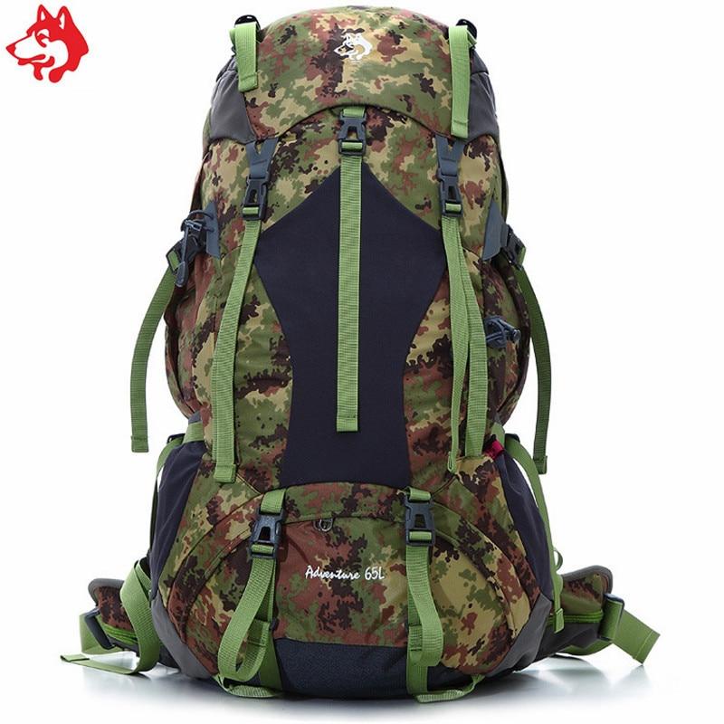 65L Camouflage/Orange/Dunkelgrün abenteuer rucksack pfeifen Camping wandern outdoor venturesome reisen rucksack