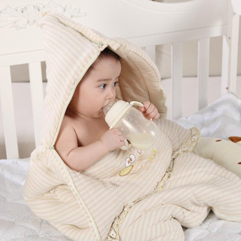 De edredón de algodón de bebé saco de dormir sobre para Recién Nacido Swaddle Wrap Anti-kick dormir Manta, saco de dormir bolsa de dormir