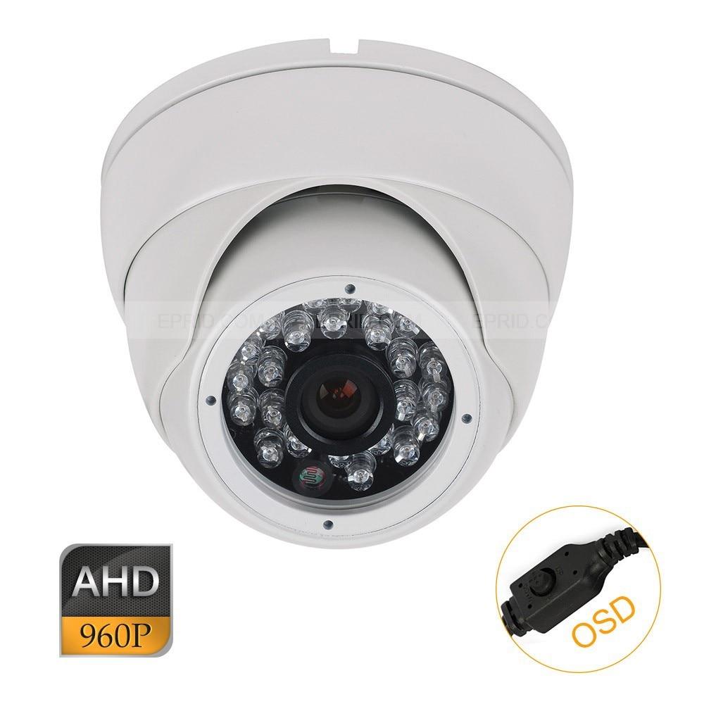 CCTV AHD 1.3MP 960P OSD Security Indoor Metal Dome Camera 3.6mm Lens