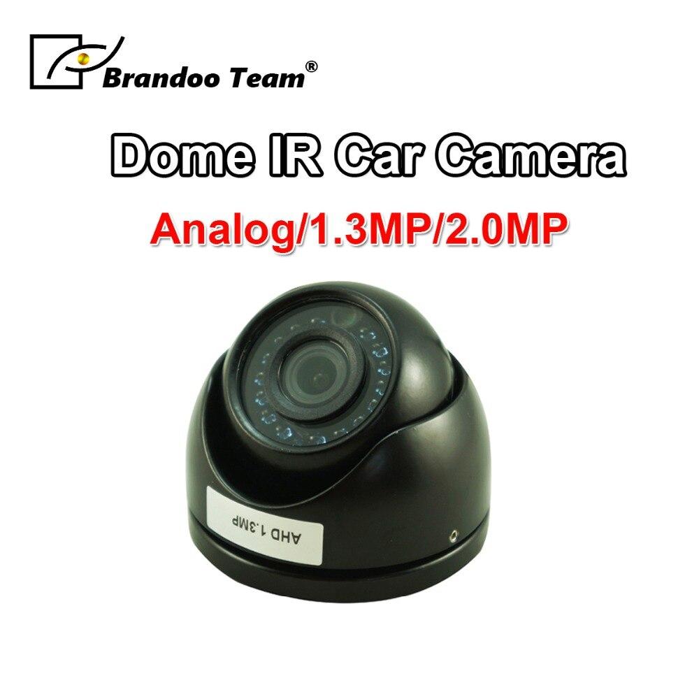 Cámara de seguridad domo de Metal para coche/autobús/camión/Taxi/vehículo Video vigilancia 2.0MP/1.3MP AHD IR visión nocturna