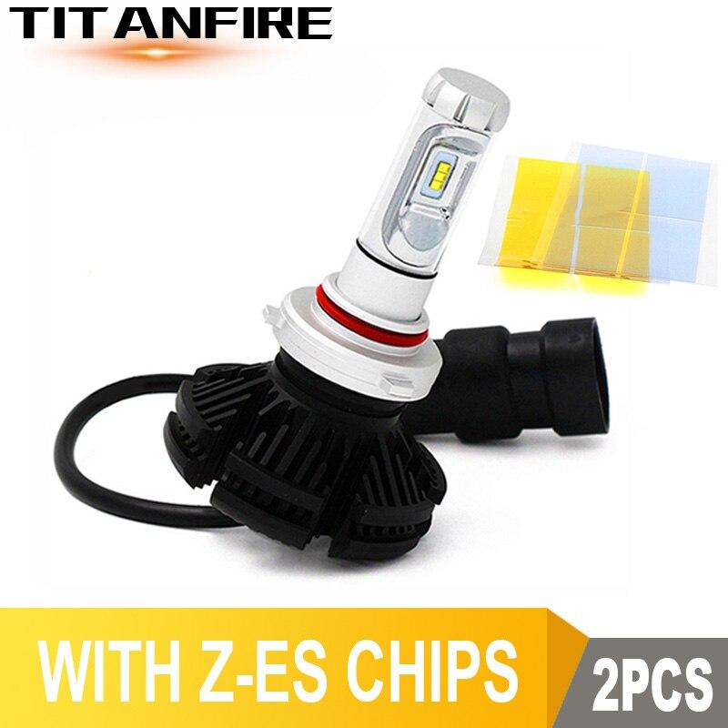 Tf30 pçs/lote led faróis lâmpadas kit de conversão luzes 50 w 6000lm h1 h11 hb3 9005 9006 x3 auto zes carro nevoeiro 3000 k/6500 k/8000 k