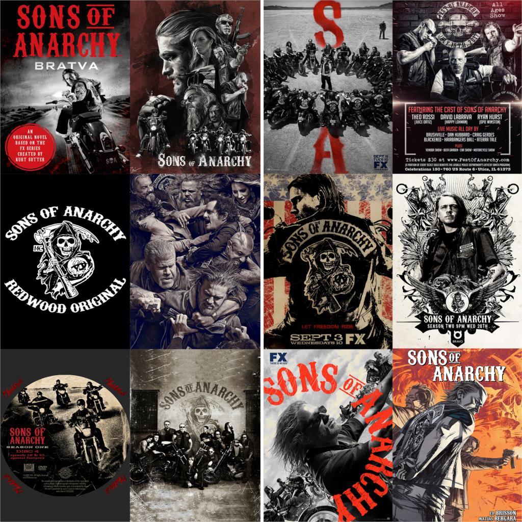 Póster de película de los Sons of Anarchy, pegatinas de pared con...