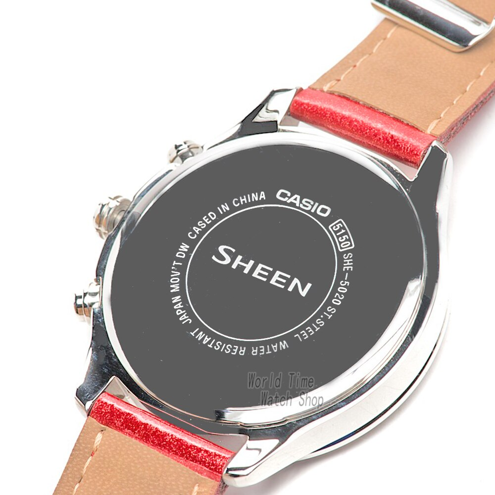 Casio watch Swarovski Crystal  women watches top brand luxury set Quartz ladies Chronograph Waterproof watch women reloj mujer enlarge
