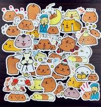 Offre spéciale 40 pièces Capybara Jungle Lion Chien Autocollant Mixte Drôle Autocollants Bagages Ordinateur Portable de Style de Voiture/Eason Autocollants/bricolage Scrapbooking