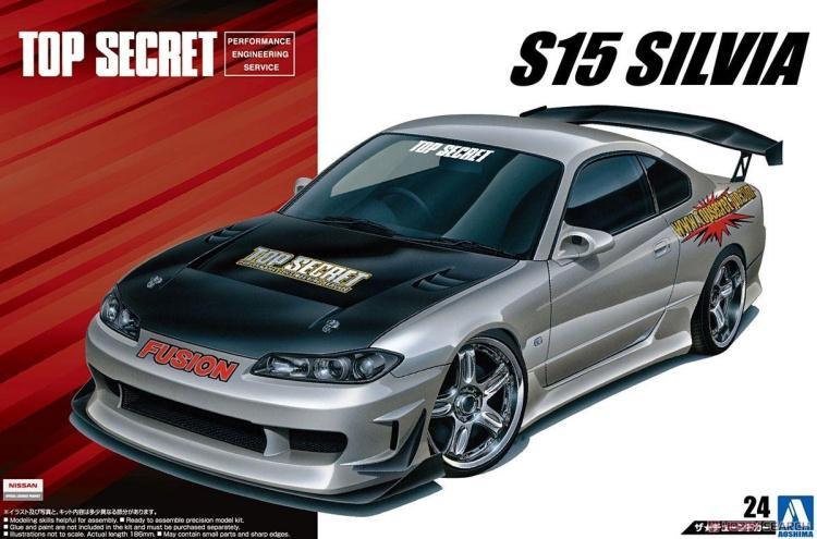 Сборная модель автомобиля Nissan S15 Silvia '99 1/24, 05355