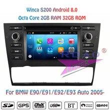 Winca S200 Android 8.0 Car DVD Player Radio For BMW E90  E91 E92 E93- (2005- Auto Stereo GPS Navigation Magnitol 2Din Multimedia