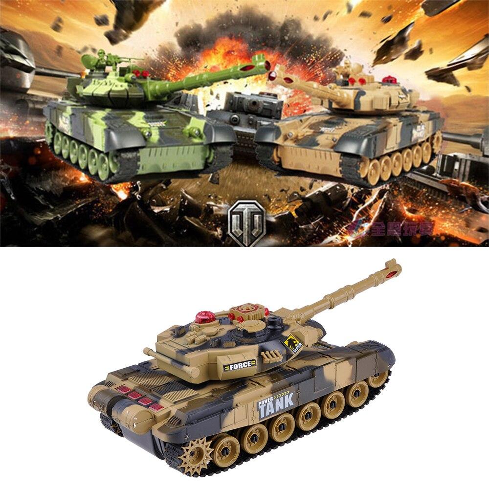 Deluxe RC Fighting Battle Tanks, mando a distancia con infrarrojos, carga, luz de sonido