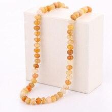 Collar de nudo de ágata Natural 3A, collar de topacio amarillo bohemios de cristal Tribal, joyería de cristal anudada, collar de abalorios, joyería fina