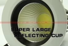 3W COB led spotlight LED DOWNLIGHT  110v-240v REFLECTING CUP high quality warm white cold white free shipping high quality